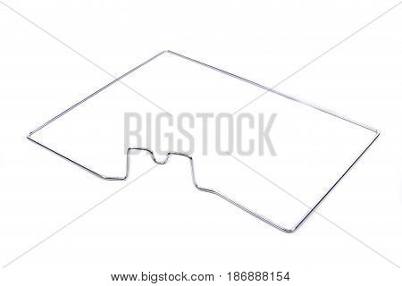 The Inside Of The Oven On An Isolated White Background. Accessory