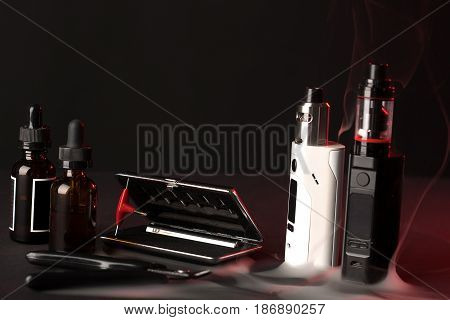 Vaping Device Mod On Dark Background