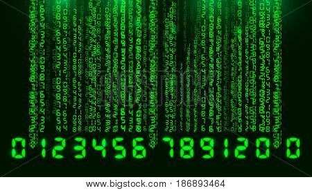 Bar Code, Binary Code Background Abstract
