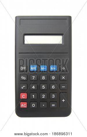 Calculator isolated on white background,