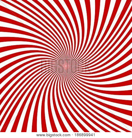 Red and white spiral design background - vector graphics