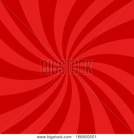 Red abstract spiral design background - vector graphics