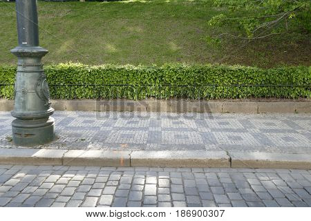 Horizontal Pattern Of Street And Hedge