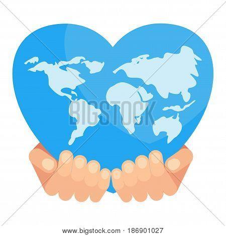 Blue World In Hand