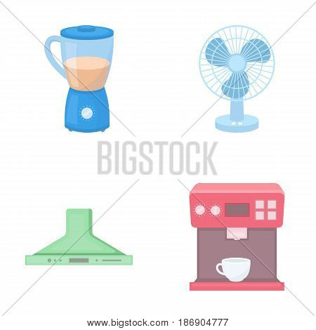 Blender, extractor and other equipment.Household set collection icons in cartoon style vector symbol stock illustration .