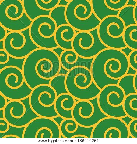 Vector twirl damask vintage seamless pattern background