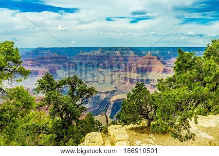 Grand Canyon National Park Mother Point and Amphitheater Arizona USA