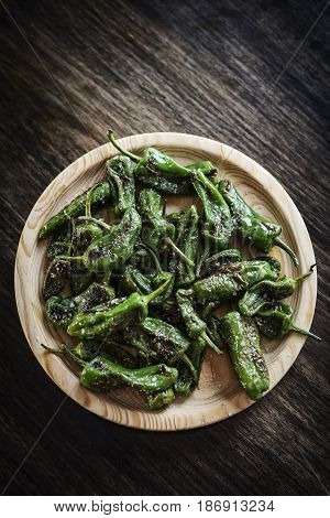 pimientos padron grilled green peppers spanish simple tapas snack