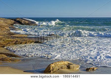 Arpoador beach and stone in Ipanema Rio de Janeiro
