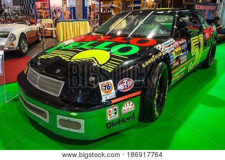 STUTTGART GERMANY - MARCH 03 2017: Race car Chevrolet Lumina Nascar 1989. Europe's greatest classic car exhibition