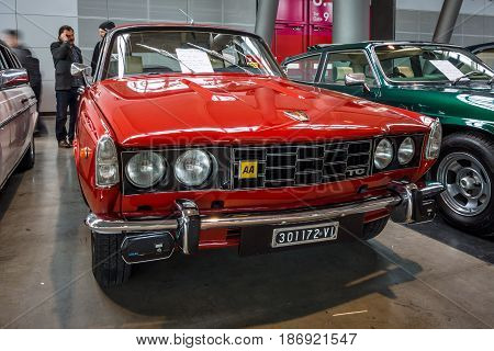 STUTTGART GERMANY - MARCH 03 2017: Executive car Rover (P6) 2000 TC 1976. Europe's greatest classic car exhibition
