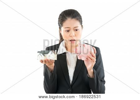 Smart Elegant Woman Have Problem