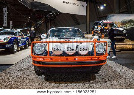 STUTTGART GERMANY - MARCH 03 2017: Sports car Porsche 911 SC Safari 1978. Europe's greatest classic car exhibition