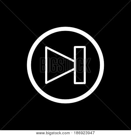 Forward media player icon illustration. Black and white vector icon. eps 10