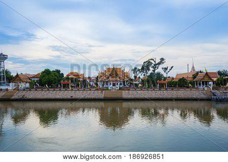 Wat Kasattrathirat Worawihan Temple In Ayutthaya, Thailand