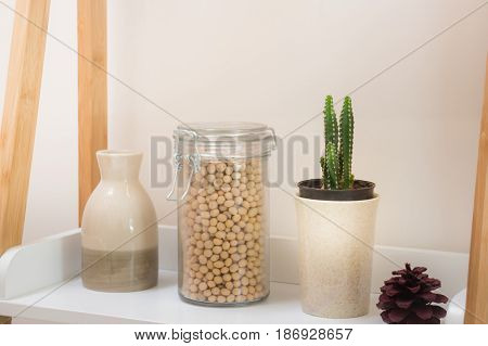 White Mini iItems Of Home Decoration stock photo