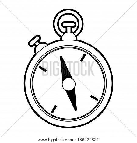 sketch silhouette image stopwatch icon vector illustration