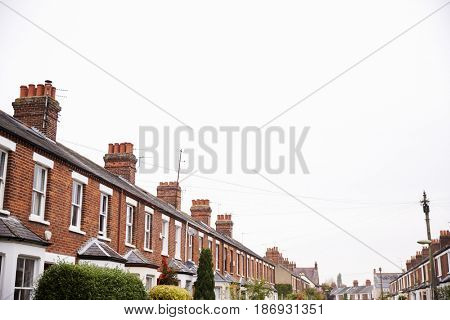 Exterior Of Victorian Terraced Houses In Oxford