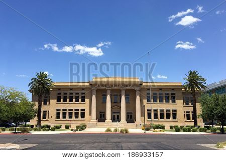 PHOENIX AZ - MAY 16 2017: Historic building of Grace Court School formerly known as Adams School (built in 1924) Phoenix Arizona