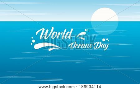 World ocean day design vector flat collection stock