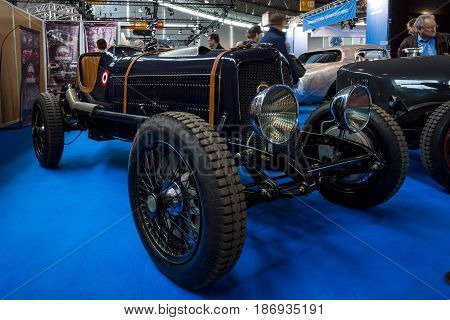 STUTTGART GERMANY - MARCH 03 2017: Chrysler racing car 20-30s. Europe's greatest classic car exhibition