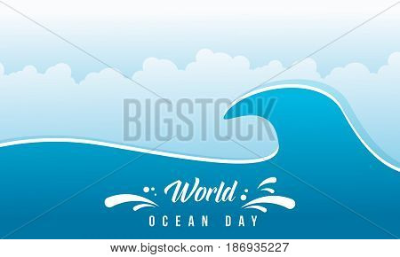 World ocean day vector flat design collection stock