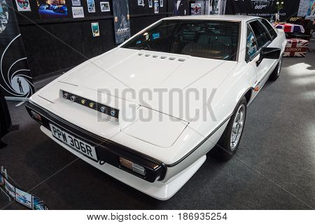 STUTTGART GERMANY - MARCH 03 2017: Sports car Lotus Esprit S1 1977. From the film about James Bond