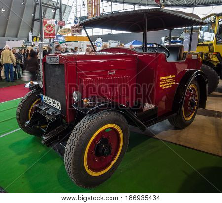 STUTTGART GERMANY - MARCH 03 2017: Tractor unit Kaelble Z3S 1935. Europe's greatest classic car exhibition