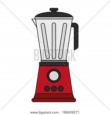color image cartoon electronic device red blender vector illustration