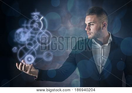 Business Man And Technology