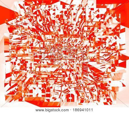 3d Render: Digital Art Light Geometrical Explosion Background