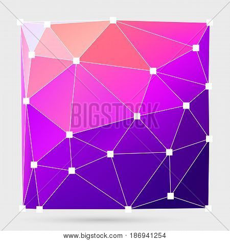 Modern Abstract Background Triangles 3D Effect Glowing Light18