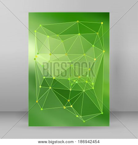 Modern Triangle Background 3D Effect Cover Page Brochure A4 Format03