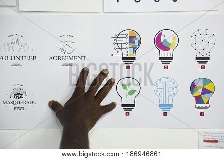Startup Business Board Showing Task Strategy Plan Mission