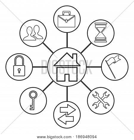 home page web site people, business, loock, support line vector illustration