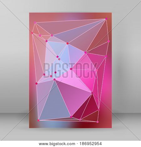 Modern Triangle Background 3D Effect Cover Page Brochure A4 Format09