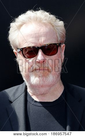 Ridley Scott at the Los Angeles special screening of 'Alien: Covenant' held at the TCL Chinese Theatre IMAX in Hollywood, USA on May 17, 2017.