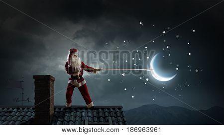 Santa catch the moon