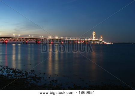 Mackinaw  Straits At Dusk