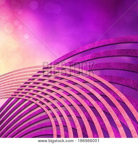 Abstract music background purple with radio sound waves