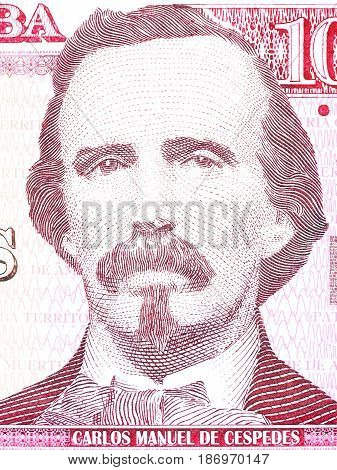Carlos Manuel de Cespedes portrait from Cuban money