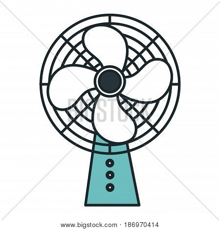 electric fan isolated icon vector illustration design