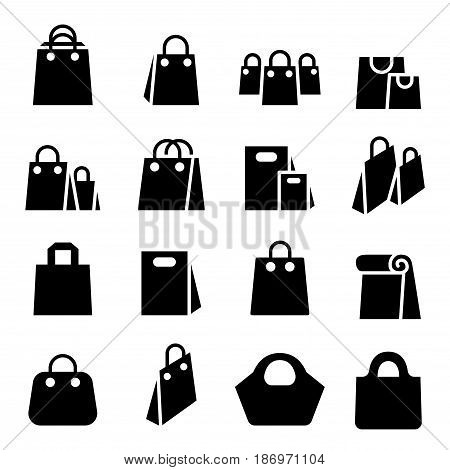 Shopping Bag icon set  vector illustration graphic design