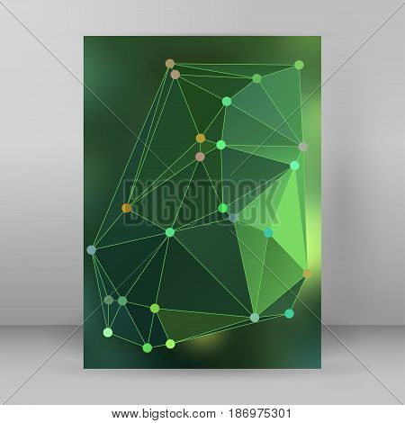 Modern Triangle Background 3D Effect Cover Page Brochure A4 Format18