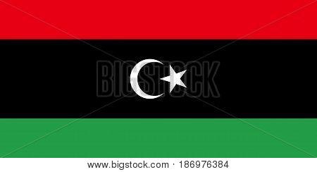 Colored Flag Of Libya