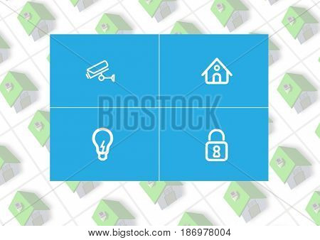 Digital composite of Home automation system App Interface