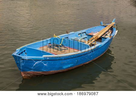 Bari Italy Fisherman's Boat in the sea