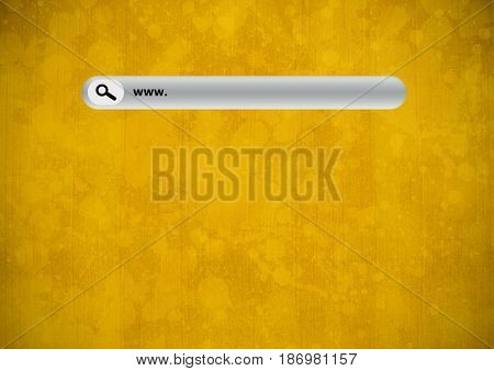Digital composite of Search Bar with yellow grunge background