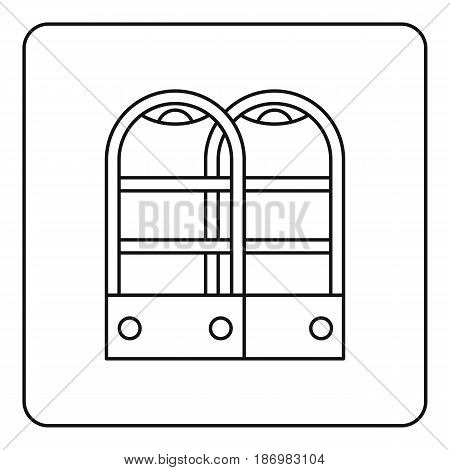 Shop security anti theft sensor gates icon in outline style isolated vector illustration