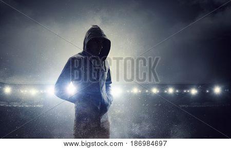 Spooky criminal person